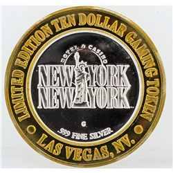 New York New York Las Vegas $10 Casino Gaming Token .999 Fine Silver Limited Edi