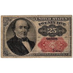 1874 25 Cent Fractional United States Currency Note