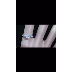 Natural Princess Diamond Ring E/SI1 - 1.05 Cts