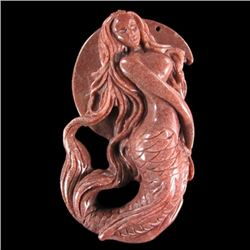 Hand Carved Mermaid Pendant