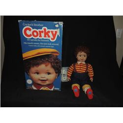 CHILD'S PLAY ORIGINAL CORKY DOLL IN BOX USED BY KEVIN YAHGER TO CREATE CHUCKY