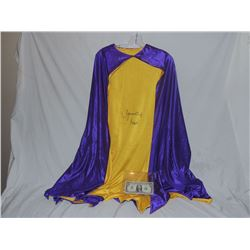BATMAN RETURN TO THE BAT CAVE SCREEN USED CAPE SIGNED BY YVONNE CRAIG