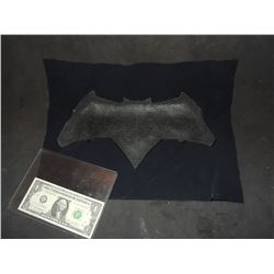 BATMAN VS SUPERMAN TEST BAT GLYPH ON BACKING MATERIAL