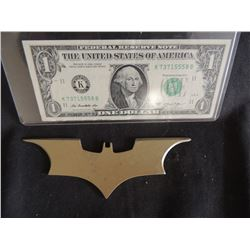 BATMAN THE DARK KNIGHT SCREEN USED HERO METAL BATARANG 2