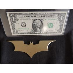 BATMAN THE DARK KNIGHT SCREEN USED HERO METAL BATARANG