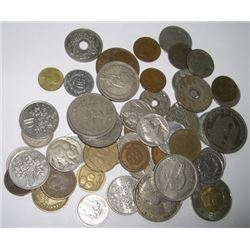 50 TOTAL COINS *MIXED WORLD/U.S COINS* INCLUDES WORLD/INDIAN HEAD CENTS/BUFFALO NICKELS & MORE!!