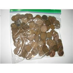 1 POUND OF WHEAT PENNIES APPROX. 150 *UNSEARCHED MIXED DATES & GRADES* WHEAT PENNIES CAME OUT OF SAF