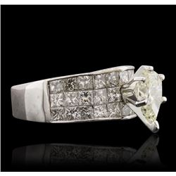 18KT White Gold 2.66ctw Diamond Ring