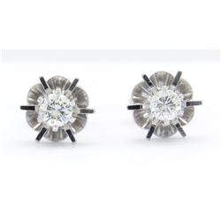 0.31ctw Diamond Earrings - 14KT White Gold