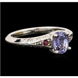 14KT White Gold 1.31ctw Sapphire and Diamond Ring