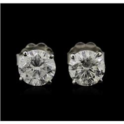 1.68ctw Diamond Stud Earrings - 14KT White Gold