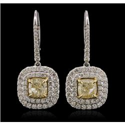 18KT Two-Tone Gold 5.81ctw Diamond Earrings
