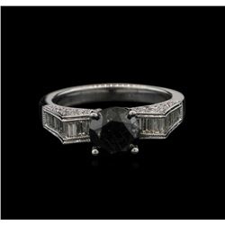 2.61ctw Black Diamond Ring - 18KT White Gold