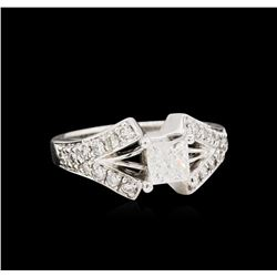 14KT White Gold 1.55ctw Diamond Ring