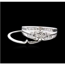14KT White Gold 0.50ctw Diamond Wedding Ring Set