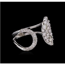 1.34ctw Diamond Ring - 14KT White Gold