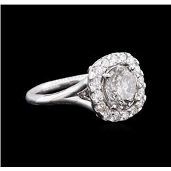 3.03ctw Diamond Ring - 14KT White Gold