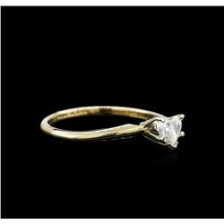 0.27ctw Diamond Solitaire Ring - 14KT Yellow Gold