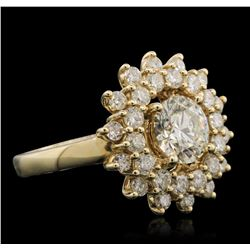 14KT Yellow Gold 2.86ctw Diamond Ring