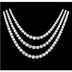 14KT White Gold 11.60ctw Diamond Necklace