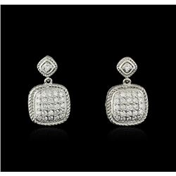 14KT White Gold 0.73ctw Diamond Earrings