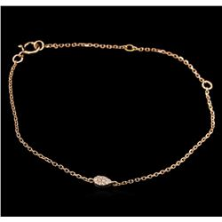 0.02ctw Diamond Bracelet - 14KT Rose Gold
