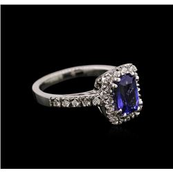 1.58ct Tanzanite and Diamond Ring - 14KT White Gold