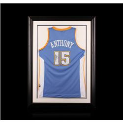 Carmelo Anthony Framed Autographed Jersey