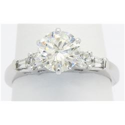 EGL USA Certified 1.50ctw Diamond Ring - 14KT White Gold