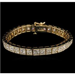 25.40ctw Diamond Tennis Bracelet - 14KT Yellow Gold
