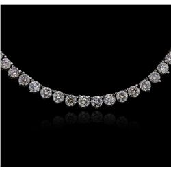 14KT White Gold 19.68ctw Diamond Necklace