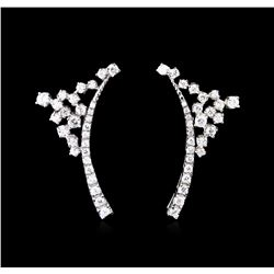 2.28ctw Diamond Earrings - 14KT White Gold