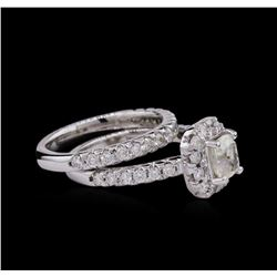 2.32ctw Diamond Wedding Ring Set - 14KT White Gold