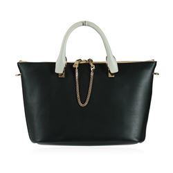 Chloe Baylee Black and Gray Shoulder/Tote Bag