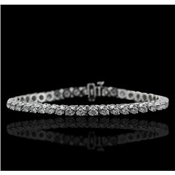 14KT White Gold 4.15ctw Diamond Tennis  Bracelet