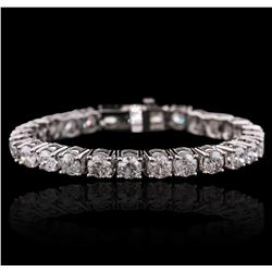 14KT White Gold 16.39ctw Diamond Tennis Bracelet