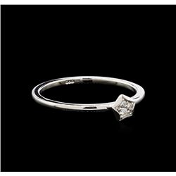 0.06ct Diamond Star Ring - 14KT White Gold