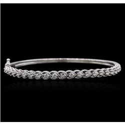 14KT White Gold 1.33ctw Diamond Bracelet