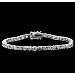 14KT White Gold 6.13ctw Diamond Tennis Bracelet