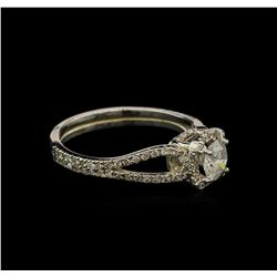 0.87ctw Diamond Ring - 14KT White Gold