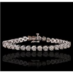 14KT White Gold 11.40ctw Diamond Tennis Bracelet