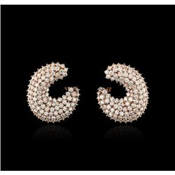 14KT Rose Gold 6.30ctw Diamond Earrings