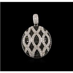 1.12ctw Black Diamond Pendant - 14KT White Gold