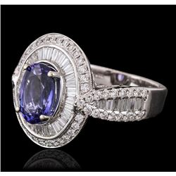 18KT White Gold 2.45ct Tanzanite and Diamond Ring