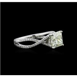 1.98ctw Diamond Ring - 18KT White Gold