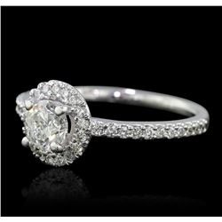 14KT White Gold 1.12ctw Diamond Ring