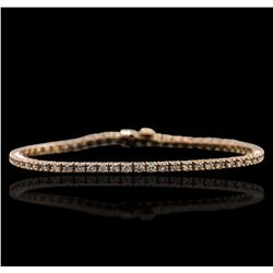 14KT Rose Gold 2.72ctw Diamond Bracelet