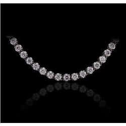 14KT White Gold 8.35ctw Diamond Necklace