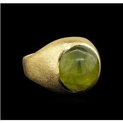 14.00ctw Chrysoberyl Ring - 14KT Yellow Gold