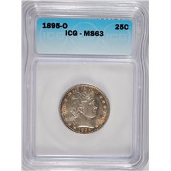 1895-O BARBER QUARTER ICG MS-63